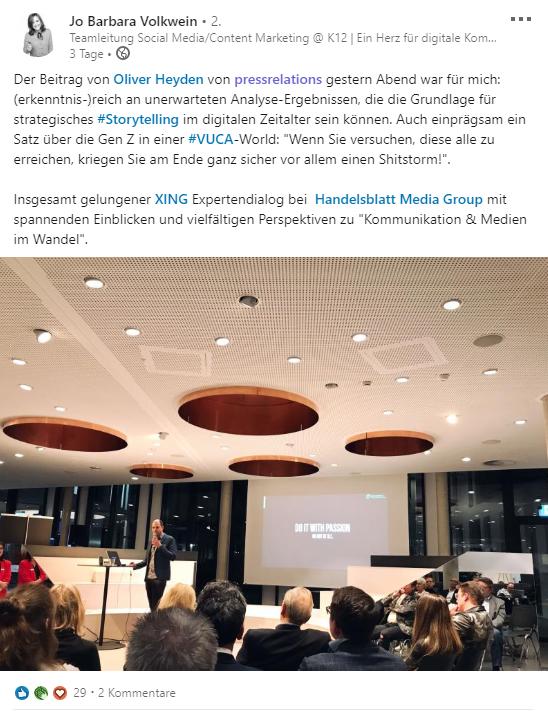XING Expertendialog Handelsblatt